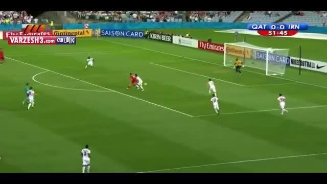گل فوق العاده زیبا ی سردار آزمون به قطر