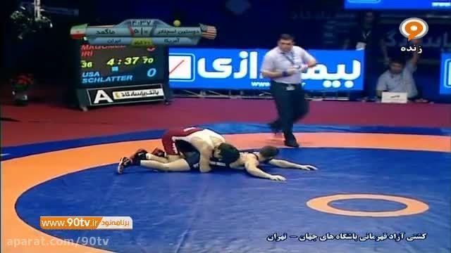 فینال کشتی آزاد باشگاه های جهان: ایران ۷-۱ آمریکا
