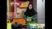 طرز تهیه پولوی گل کلم با پنیر کبابی