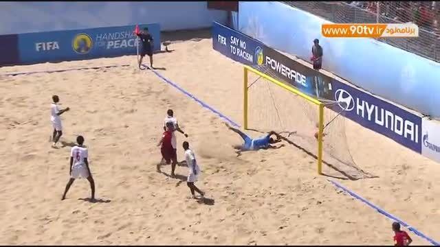 خلاصه فوتبال ساحلی: سنگال ۶-۵ پرتغال
