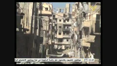 به غنیمت گرفتن خودروهای زرهی داعش در منطقه عیاش