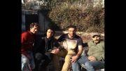 مهدی رحمتی و حنیف عمران زاده در پشت صحنه پایتخت3