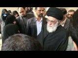حضور رهبر معظم انقلاب در مراسم تشییع پیكر شهدای جهاد خودكفایی سپاه(شهدای غدیر)