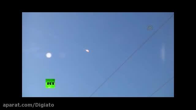 صحنه سقوط هواپیمای روسی