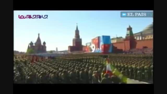 رژه ارتش روسیه در حضور پوتین