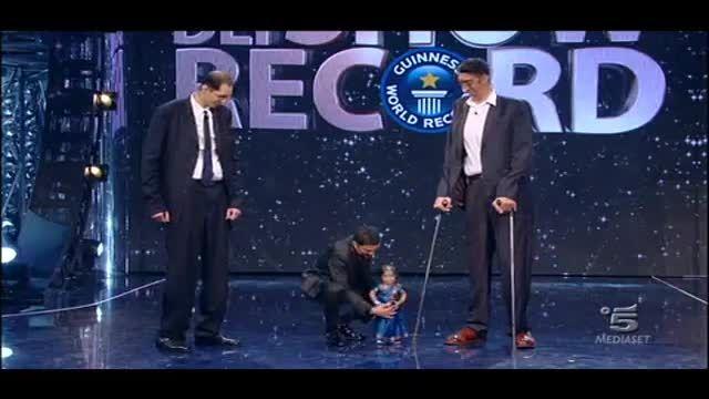 قدبلند ترین مرد دنیا دركنار كوتاه قدترین زن دنیا
