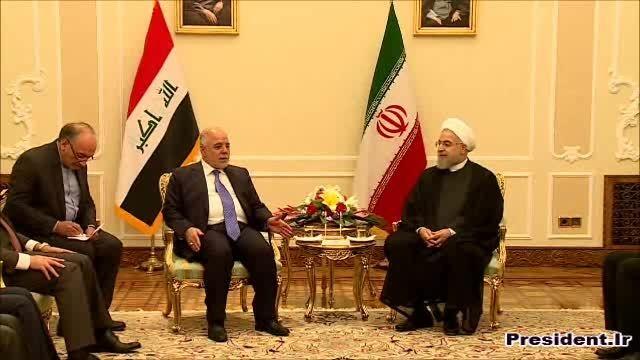 دیدار دکتر روحانی با نخست وزیر عراق