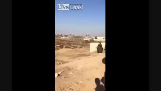 لحضه شهادت یکی از عناصر پیشمرگه توسط داعش