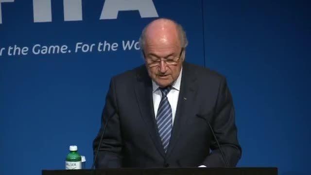 کنفرانس خبری کامل استعفای بلاتر از ریاست فیفا