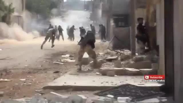 حمله سنگین ارتش سوریه به ارتش ازاد با حمایت جنگنده روسی