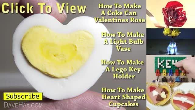 چگونه تخم مرغ را به شکل قلب درست کنیم؟