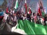 تجمع کاروان الی بیت المقدس مقابل سفارت اسرائیل در آنکارا