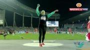 نقرۀ لیلا رجبی اولین مدال تاریخ دو و میدانی زنان ایران