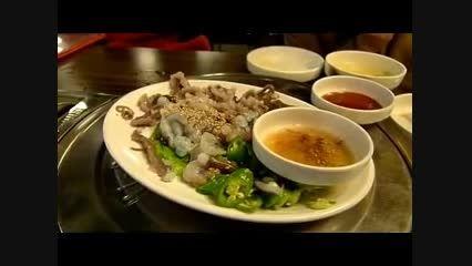 غذای معروف و زنده چینی  ها !