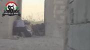 سقوط خمپاره در میان تروریستهای سوری