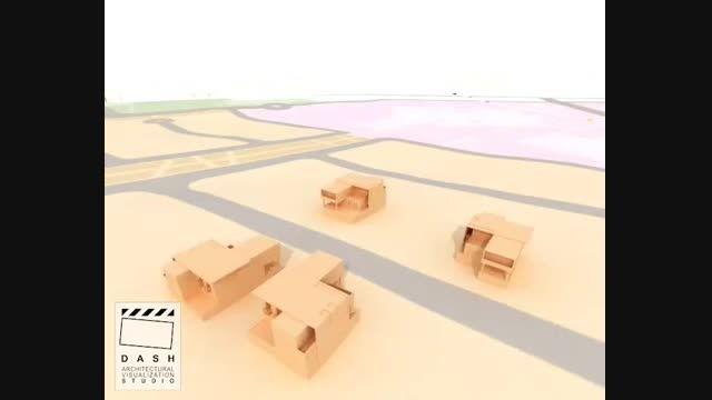 انیمیشن معماری -پروژه مستر پلان جیبوتی