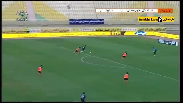 خلاصه بازی استقلال خوزستان 1-0 سایپا