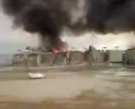 انفجار دکل 29 نفتشهر کرمانشاه هم مرز عراق در مجاورت م