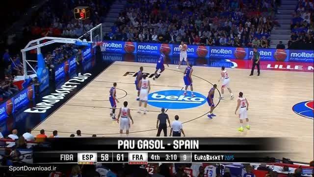 کلیپ 5 حرکت زیبا و برتر نیمه نهایی بسکتبال اروپا