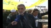 کاروان پیاده اهل سنت به حرم ثامن الحجج رسید