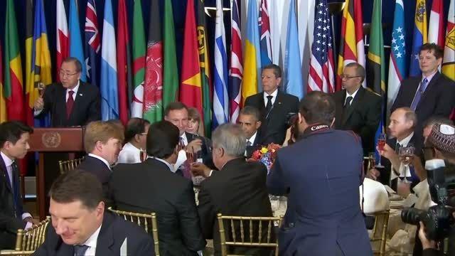 ضیافت ناهار قدرتهای شرق و غرب و آرزوی سلامتی هم