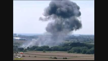 سقوط هواپیمای نظامی وسط اتوبان (انگلیس)