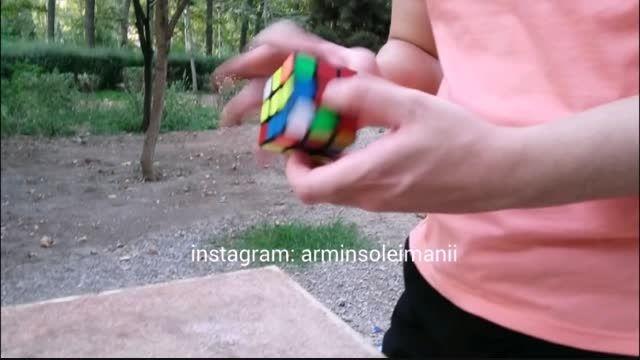 حل مکعب روبیک در 6 ثانیه !