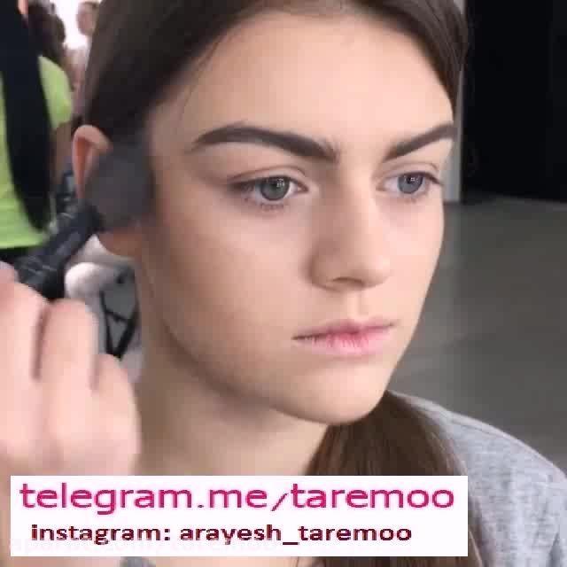 آموزش آرایش چهره زیبا در تار مو