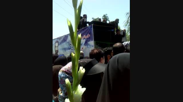 تشییع پیکر شهید غواص شناسایی شده جلیل میری در کرج