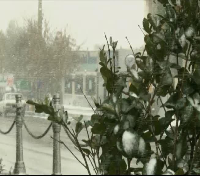بارش برف در میمه