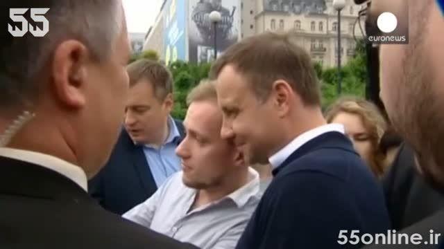 تشکر رئیس جمهور جدید لهستان از مردم در خیابان های ورشو