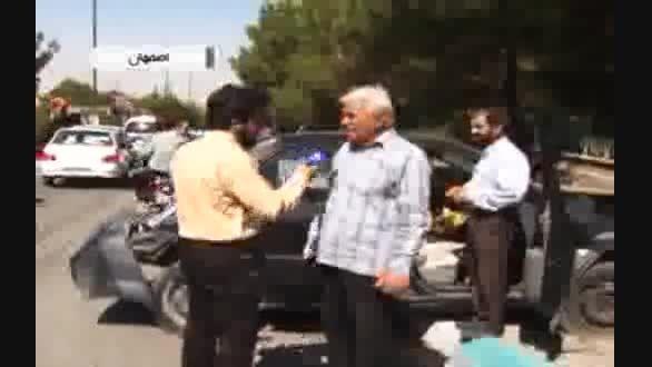 تصادف زنجیره ای با ۴ کشته و زخمی در اصفهان!