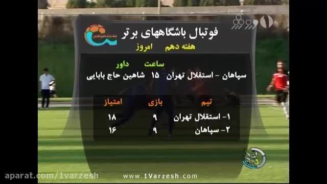 آغاز هفته دهم لیگ برتر فوتبال ایران