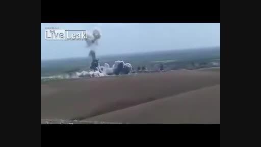 انفجار خودروی داعش(دولت اسرائیلی عراق و شام) در آسمان!