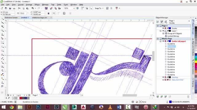 طراحی دو لوگو با کمک کورل برای گرافیک، طراحی و لیزر