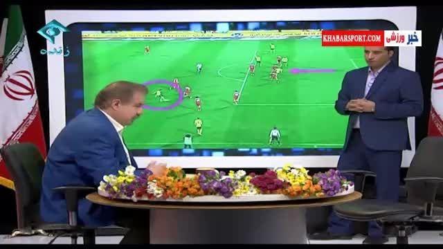 صحنههای مشکوک داوری در بازی پرسپولیس-سپاهان