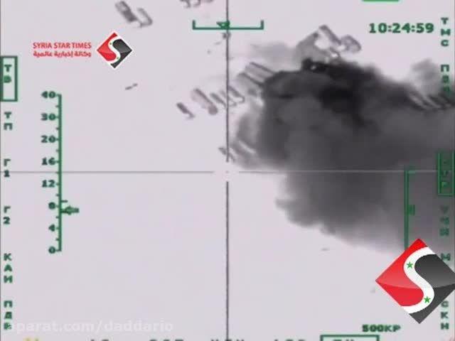 انهدام 500 تانکر نفت قاچاق داعش توسط جنگنده های روسیه