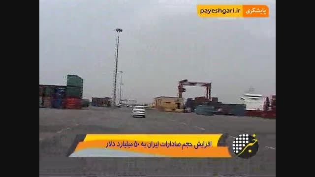 افزایش حجم صادرات ایران