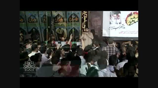 مداحی حاج مهدی سلحشور در کنار پیکر شهید تازه تفحص شده