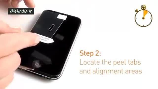 نصب محافظ صفحه گوشی موبایل