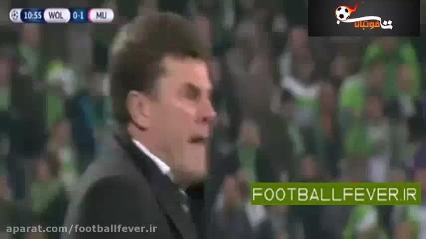 خلاصه بازی وولفسبورگ 3- منچستر یونایتد 2