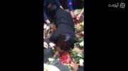 نامزد مرتضی پاشایی بالا سره قبرش