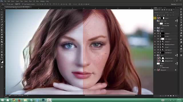 آموزش حرفه ای روتوش چهره، اصلاح رنگ و نور تصویر !