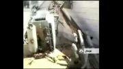 سقوط تیر برق روی منزل مسکونی