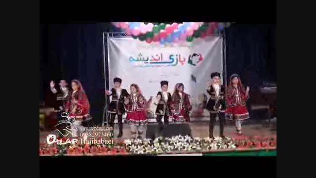 """رقص فولکلوریک آذری """"هیوا گلی"""" توسط گروه خردسال دختروپسر"""