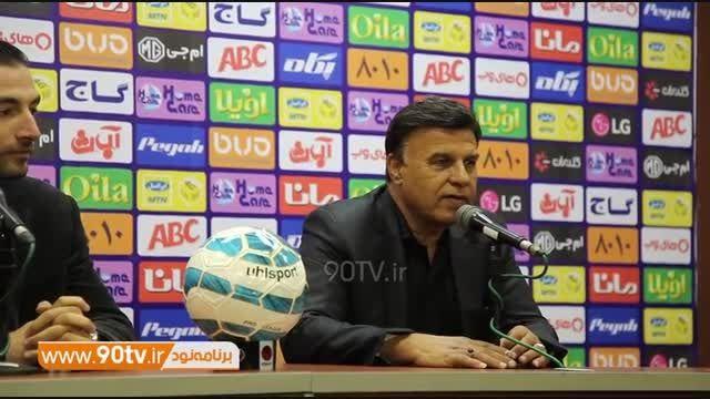 کفرانس خبری کامل مظلومی بعد از بازی با استقلال خوزستان
