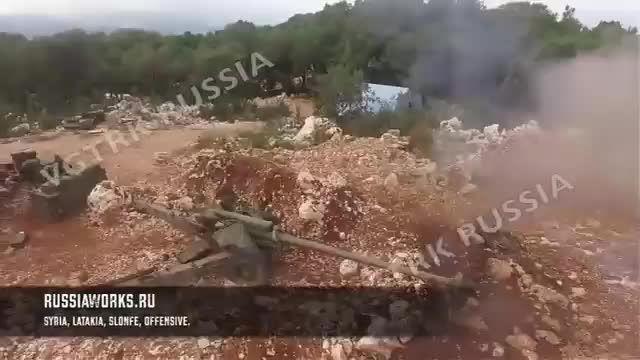 تصاویر پهباد ارتش روسیه از نبردهای شمال لاذقیه سوریه