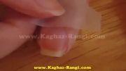روش زدن لاک مرمری .سایت کاغذ رنگی www.Kaghaz-Rangi.com