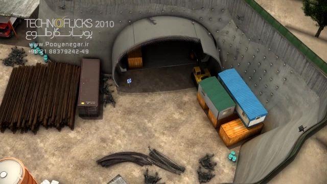 انیمیشن عمرانی-صنعتی تونل نیایش تهران