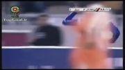 گل علیرضا منصوریان در بازی استقلال با برق شیراز